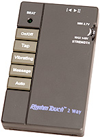 Picture of the Rhythm Touch Q Electrical Muscle Stimulator and accu-therapy device for use in pain relief.