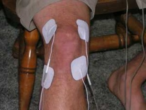 Pad Placement for the knee, a common sports injury - Copyright Pain Relief Essentials