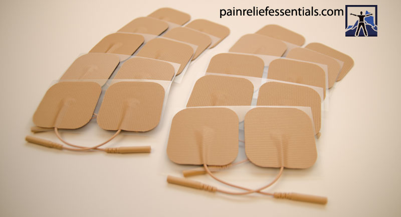 Premium silver reusable tens electrodes from Pain Relief Essentials