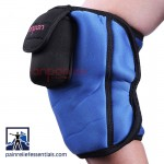 Cordless knee infrared heating pad on knee