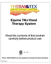 Instruction manual cover for the Thermotex Infrared Heat Therapeutic Tmj Horse Hood