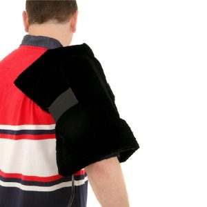 Using Thermotex Platinum FIR Heat Pad on Arm and Shoulder