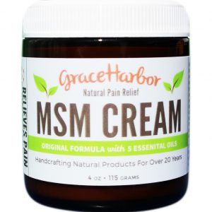 Grace Harbor MSM Therapeutic Cream with essential oils new label