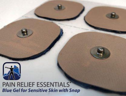 Skin Sensitive blue gel hypoallergenic electrodes with snap